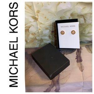 Michael Kors stud earrings.